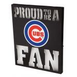 Chicago Cubs Metal LED Wall Decor
