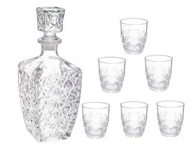 Whiskey Decanter with Tumblers